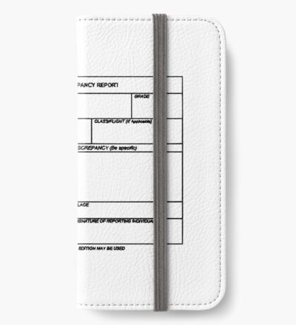 USAF Form 341 - Excellence/Discrepancy Report iPhone Wallet