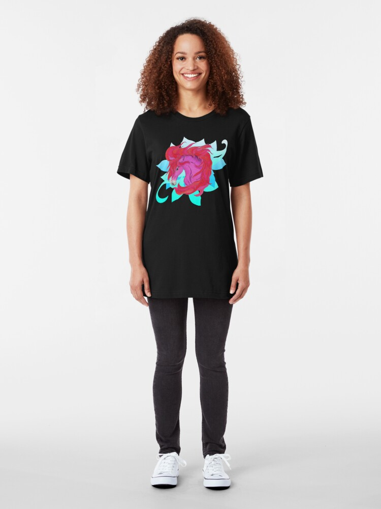 Alternate view of Wild Horse Pink Slim Fit T-Shirt