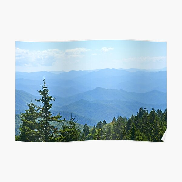 Blue Ridge Mountains - horizontal Póster
