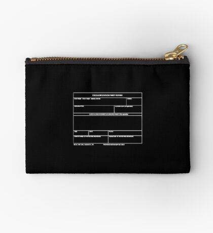 Copy of USAF Form 341 - Excellence/Discrepancy Report Inverted Zipper Pouch