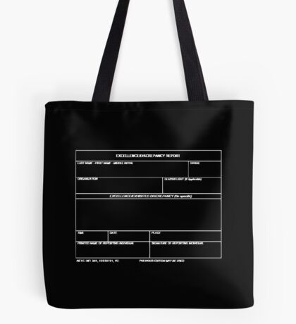 Copy of USAF Form 341 - Excellence/Discrepancy Report Inverted Tote Bag