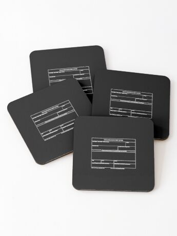 Copy of USAF Form 341 - Excellence/Discrepancy Report Inverted Coasters