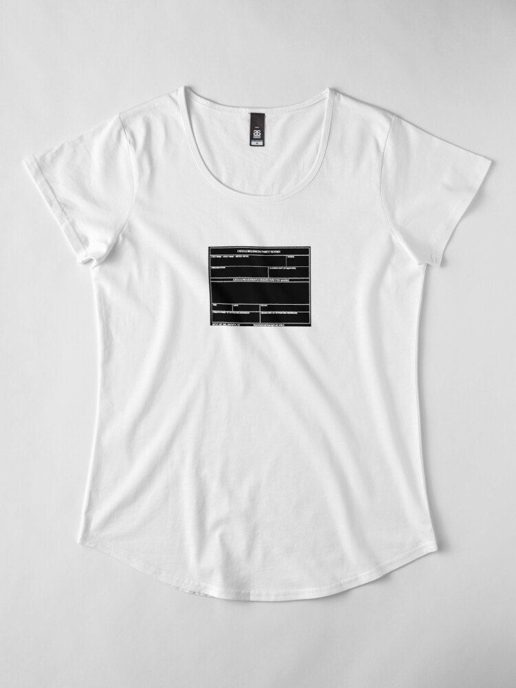 Alternate view of Copy of USAF Form 341 - Excellence/Discrepancy Report Inverted Premium Scoop T-Shirt