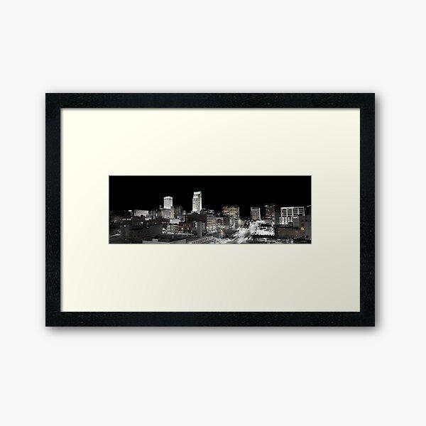 Omaha Night Lights Framed Art Print