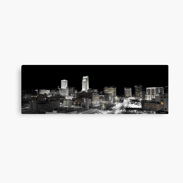 Omaha Night Lights Canvas Print