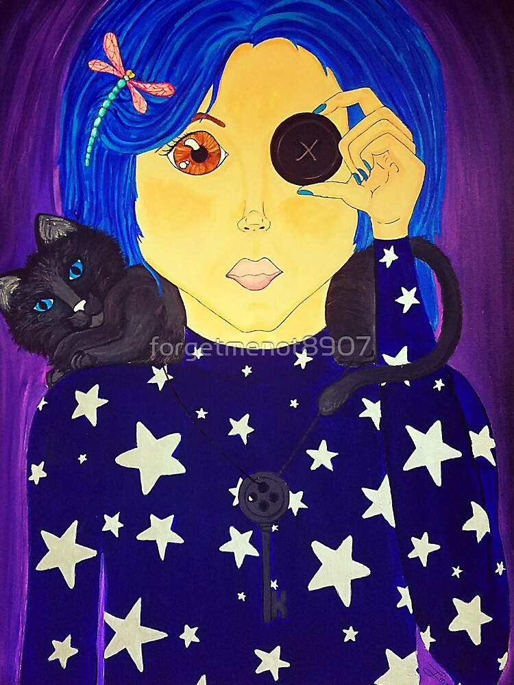 Be Brave Coraline Fan Art Baby One Piece By Forgetmenot8907 Redbubble
