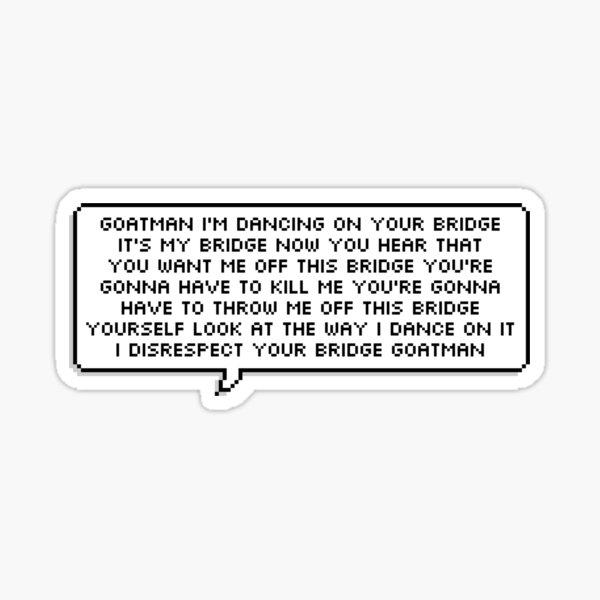 Buzzfeed Unsolved Supernatural Goatman Taunt Sticker