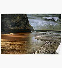 Bedruthan Beach Poster