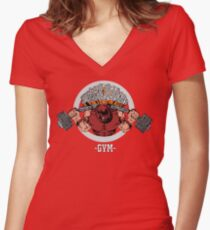 Juggernaut Gym Women's Fitted V-Neck T-Shirt