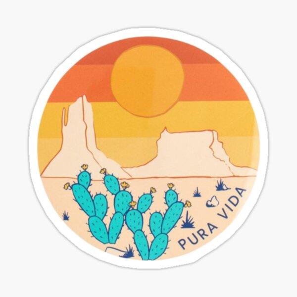 Pura vida desert  Sticker
