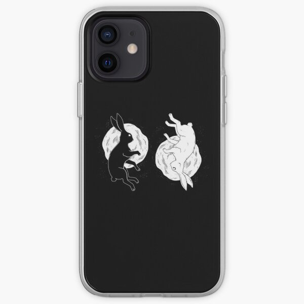 Hare Yin and Yang in the universe. iPhone Soft Case