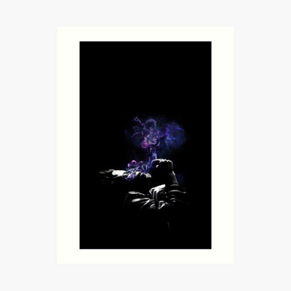 Tom Waits Smoking Nebula Art Print
