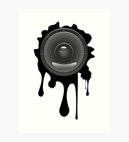 Grunge Audio Lautsprecher Kunstdruck