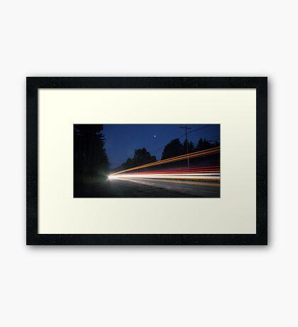 (Pre-dawn) Highway Traffic Framed Print