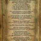 """Desiderata """"desired things"""" on parchment von Irisangel"""