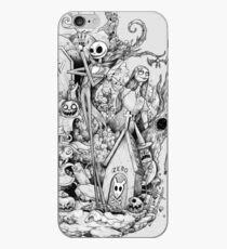 A nightmare in black and white iPhone Case
