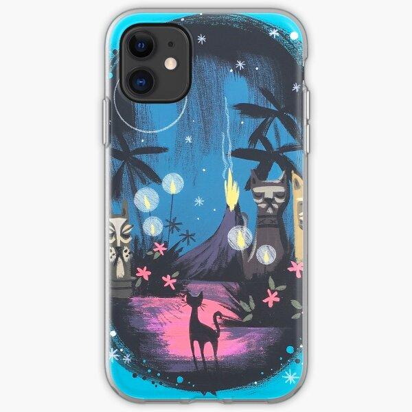 Tiki Kitty Paradise  iPhone Soft Case