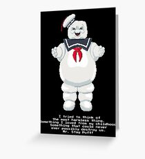 Stay Puft - Ghostbusters Pixel Art Greeting Card