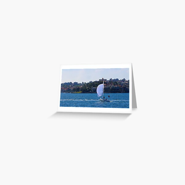 Sailing across Sydney Habour Greeting Card