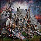 The viking camp by Alan Mattison