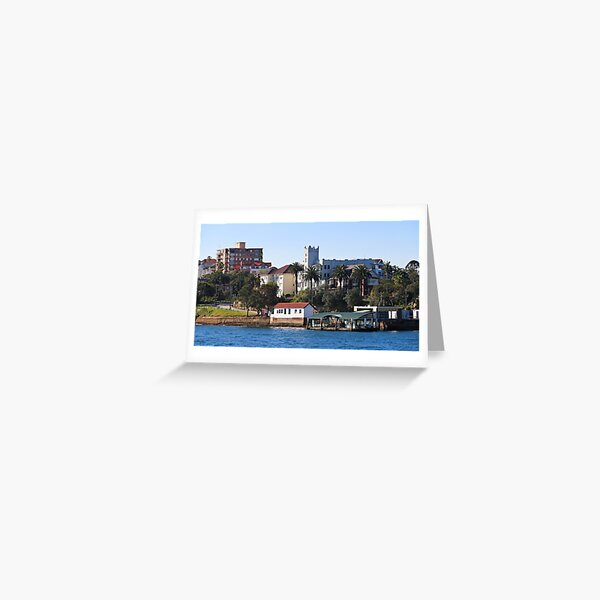 Mansions and Quays on Sydney Harbour Greeting Card