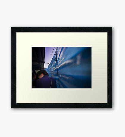 In the boat Framed Print