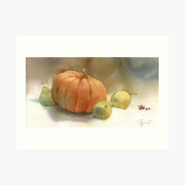 Stil-life with pumpkin Art Print
