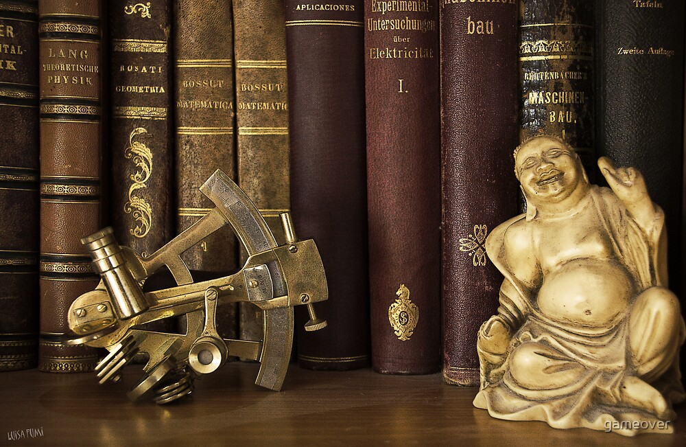 Sextant and Smiling Buddah by gameover