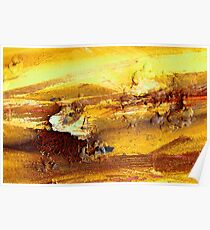 Abstract rusty lumps of metal Poster