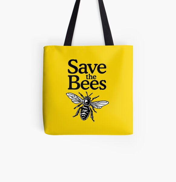 Save The Bees Beekeeper Quote Design All Over Print Tote Bag