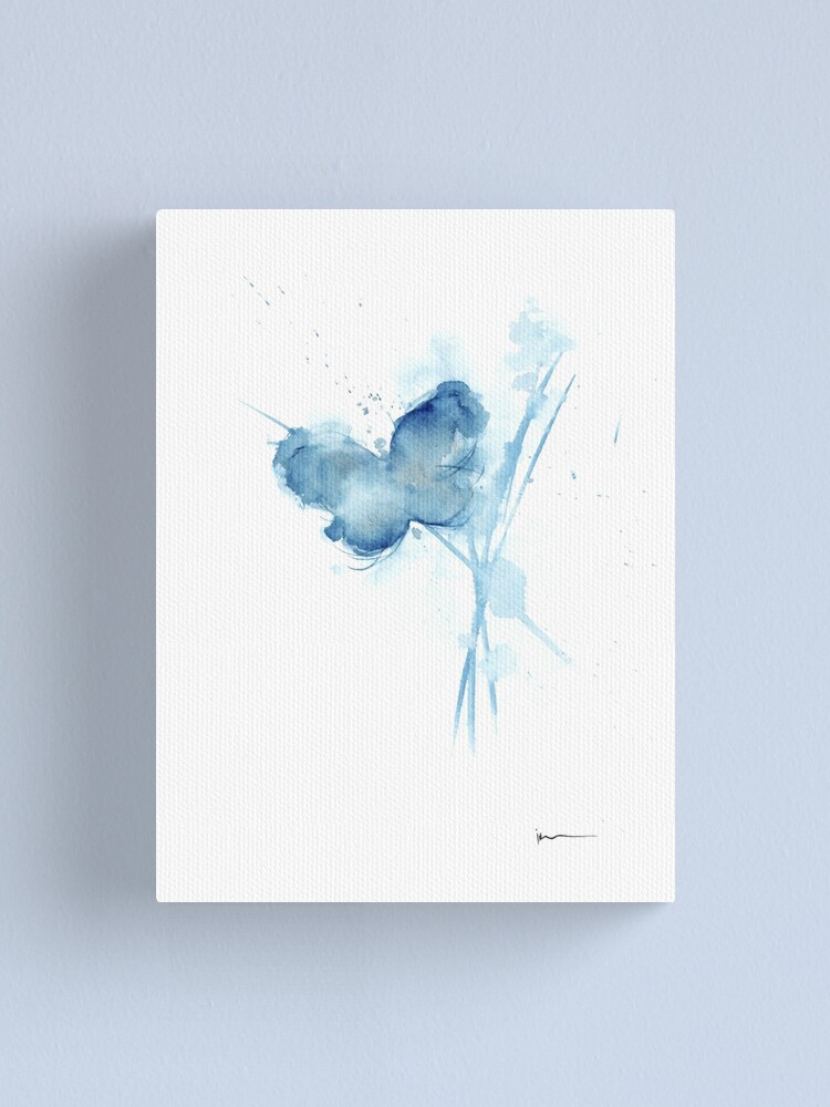 Butterfly Art Print Watercolor Painting Baby Room Ideas Blue Butterfly Canvas Print By Asiaszmerdt Redbubble
