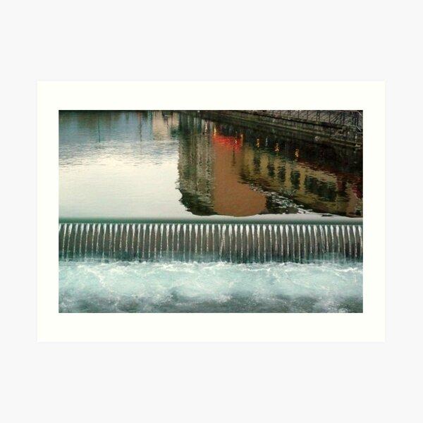Annecy en chute libre Art Print