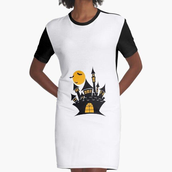 Halloween castle  Graphic T-Shirt Dress