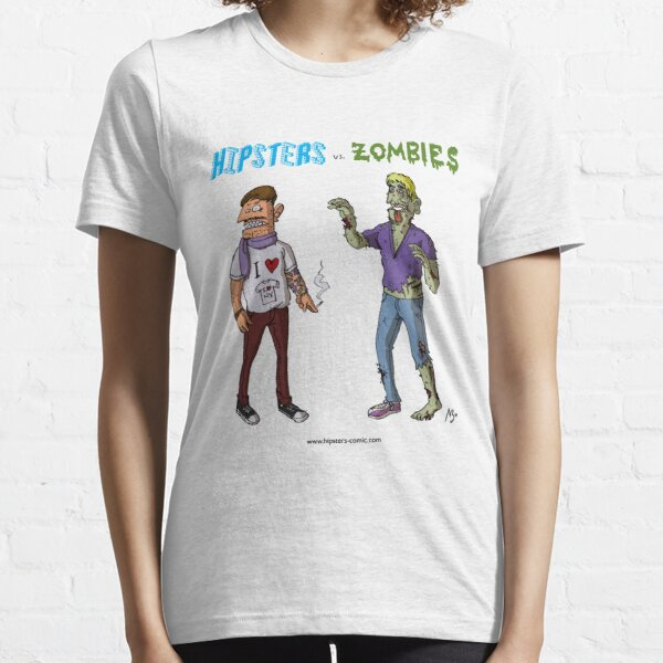 Hipsters vs. Zombies Essential T-Shirt