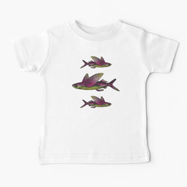 Flying Fish   Vintage Fish   Three Fish    Baby T-Shirt