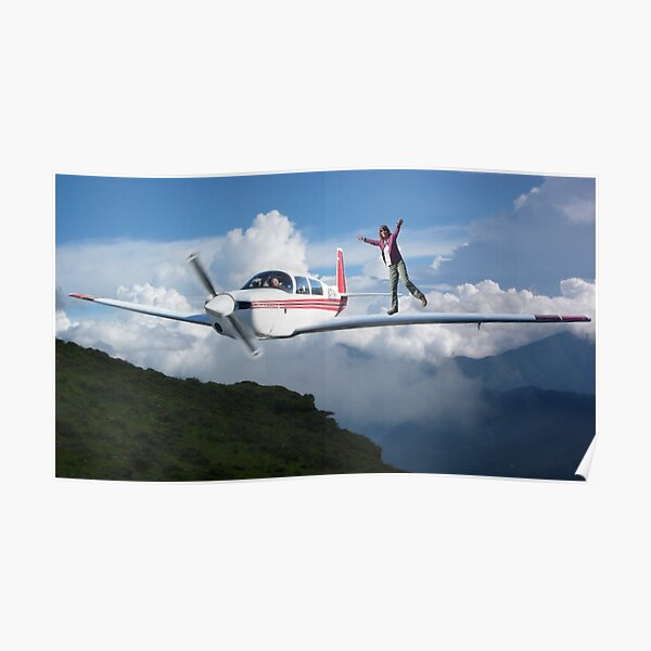Flying above the clouds Poster