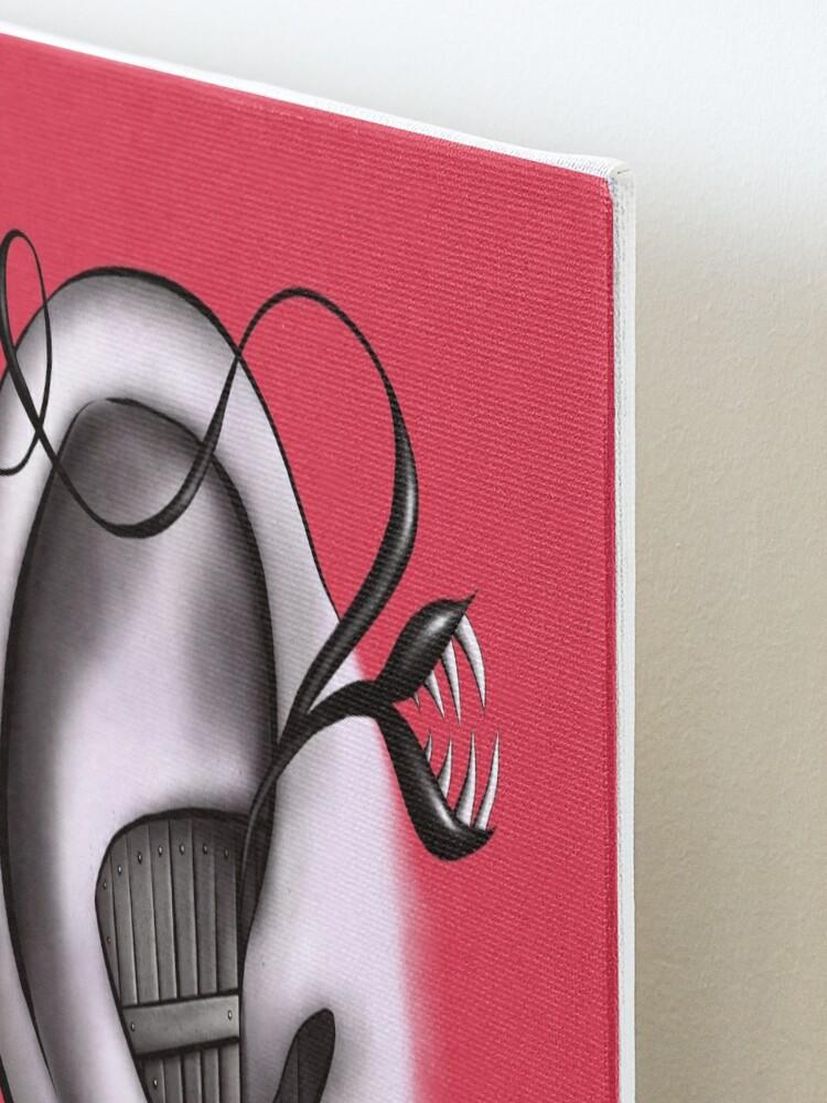Alternate view of Ear Monster Weird Art Mounted Print