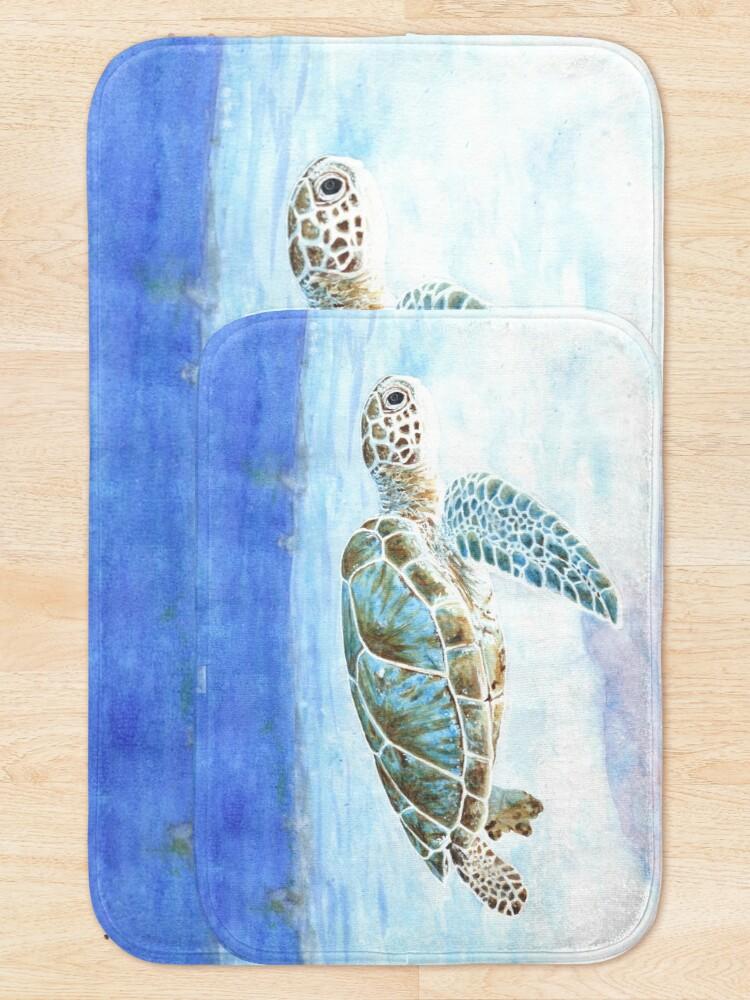 Alternate view of Sea turtle underwater Bath Mat