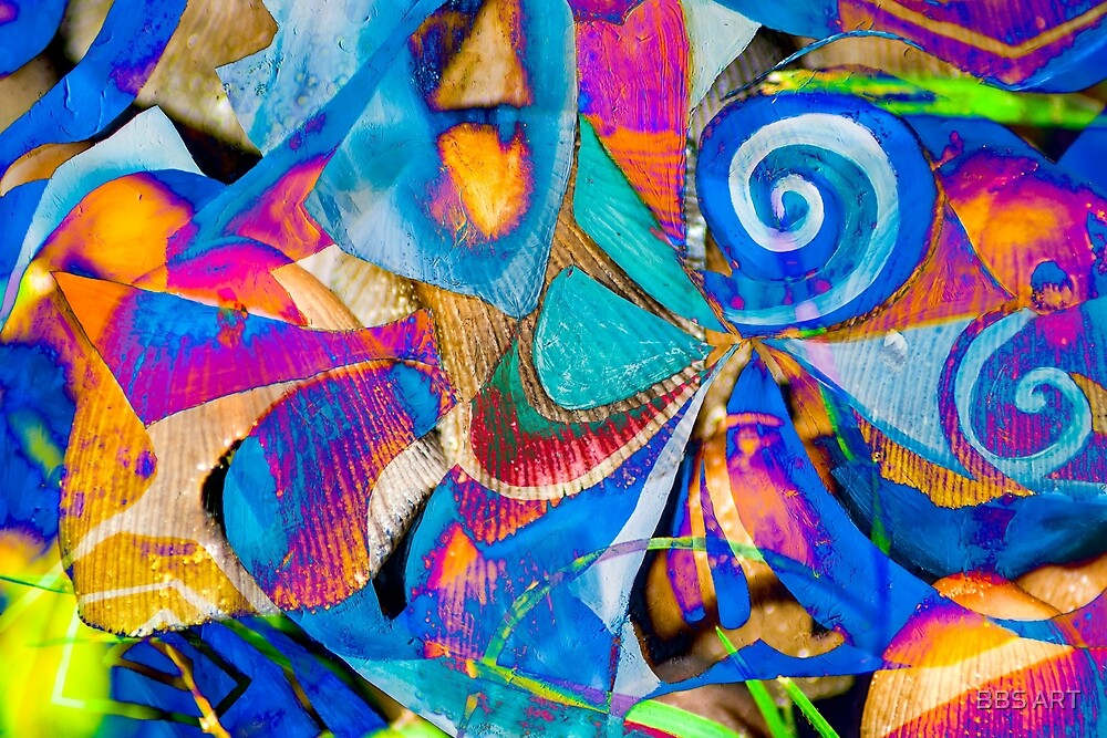 bright colors shapes abstraction by BBS ART