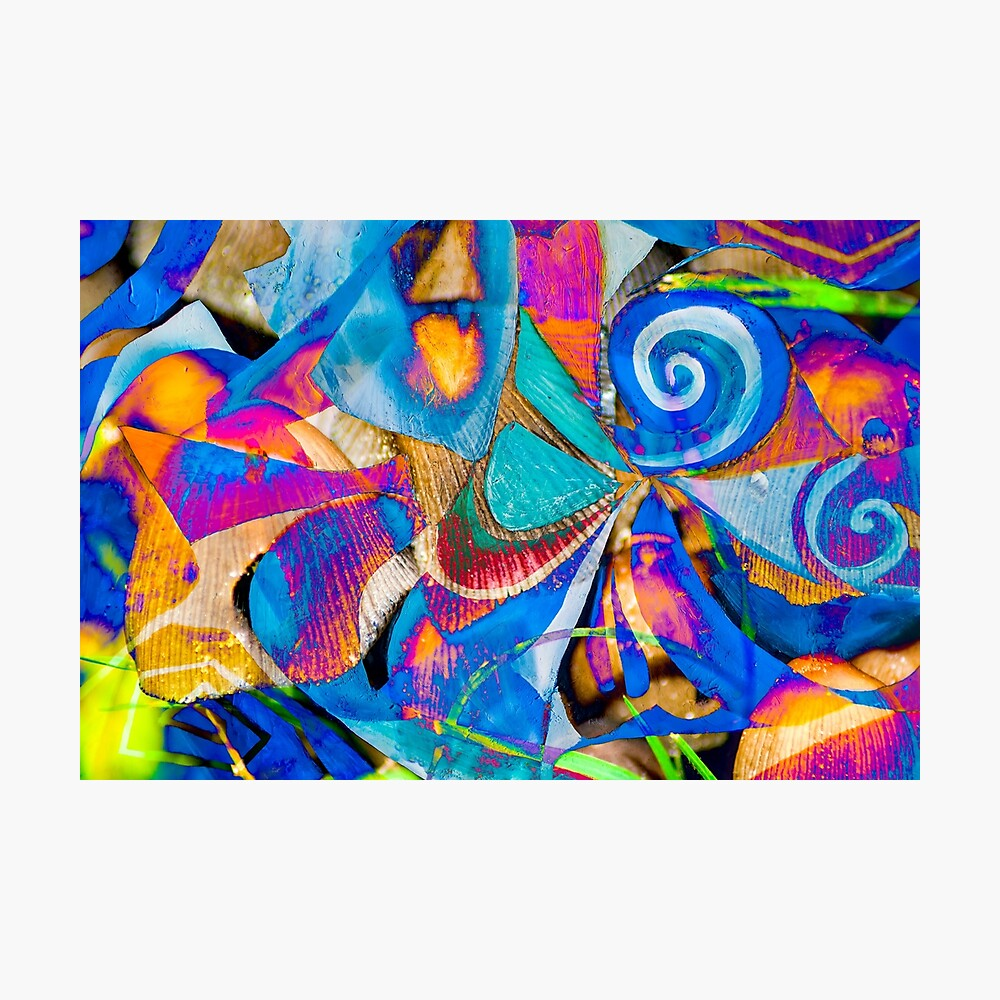 bright colors shapes abstraction Photographic Print
