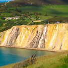 Coloured sand cliffs of Alum Bay Isle of Wight by Lyndy