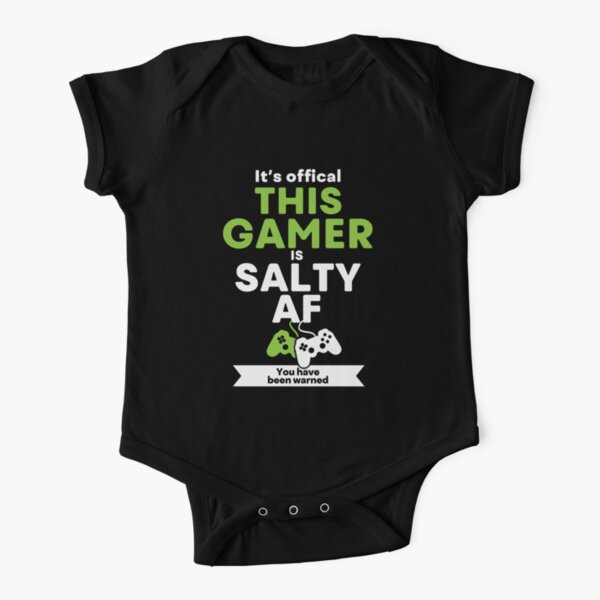 Funny Video Gamer T Shirt And Gift Ideas Video Game Addict Gamer Gift Baby One Piece By Gameongifts Redbubble