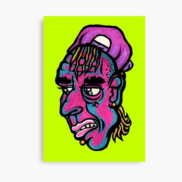 Burnout - Green Background Version Canvas Print