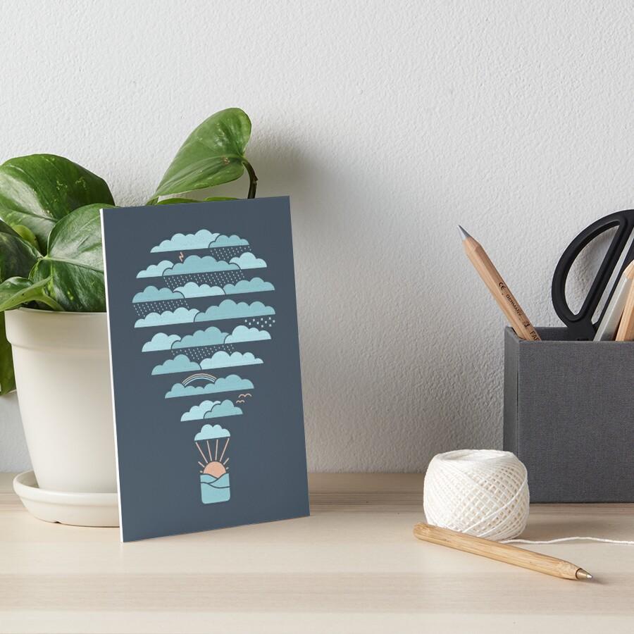 Weather Balloon Art Board Print