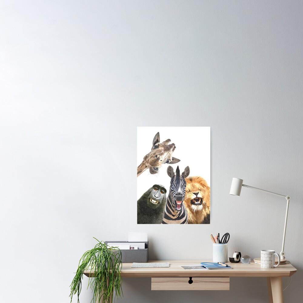Jungle Animal Friends Poster