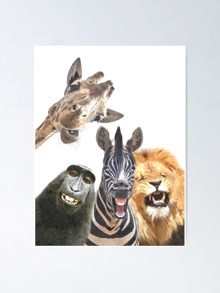 Alternate view of Jungle Animal Friends Poster