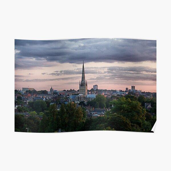 Norwich City Skyline Poster