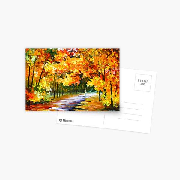 THE PATH OF SUN BEAMS - Leonid Afremov Postcard