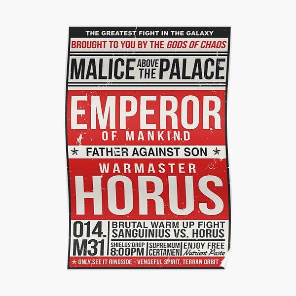 Malice au-dessus du palais Poster