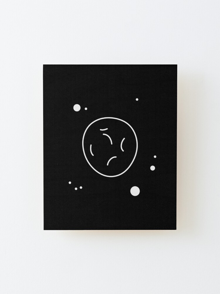 Alternate view of Asteroid Outline Mounted Print